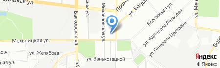 Українська скарбниця ПТ на карте Одессы