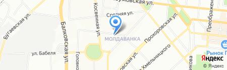 Бтк-Юг на карте Одессы
