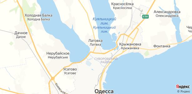 Латовка на карте