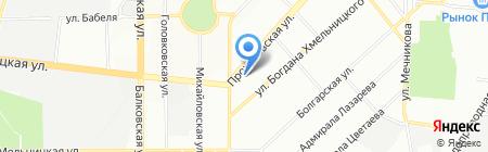 Самоделкин на карте Одессы