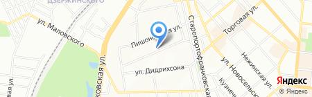 Служба эксплуатации внутридомового газового оборудования на карте Одессы