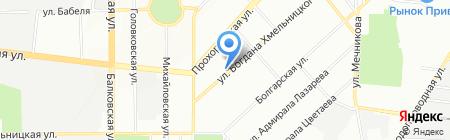 Спакт на карте Одессы