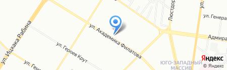 Одесса-Днепр на карте Одессы