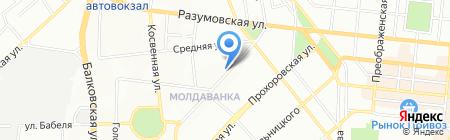 Омикс на карте Одессы