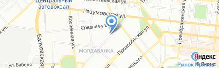 Івік-Юг на карте Одессы