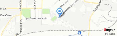 На Цветаева на карте Одессы