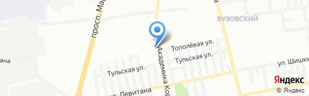 Ассоциация инструкторов практического обучения вождения на карте Одессы