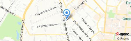 Мира на карте Одессы