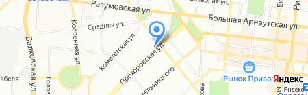 Будем здоровы вместе на карте Одессы
