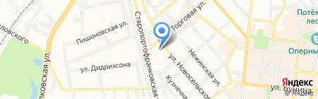 Ганеж на карте Одессы
