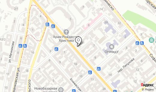 Городская клиническая больница №9 им. профессора А.И. Минакова. Схема проезда в Одессе