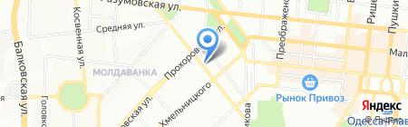 Сильвер на карте Одессы