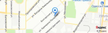 Топаз на карте Одессы