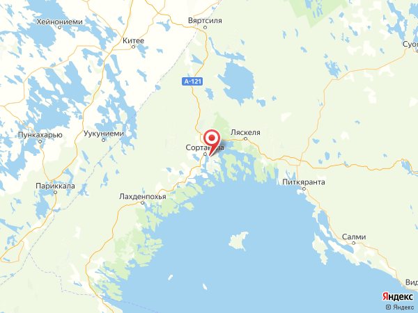 посёлок Красная Горка на карте