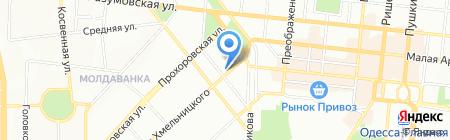 Булгар-тур на карте Одессы