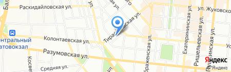 Тираспольский на карте Одессы