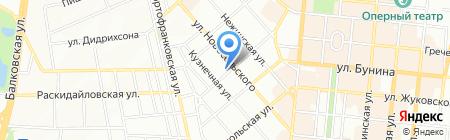 Банк Кредит Дніпро на карте Одессы