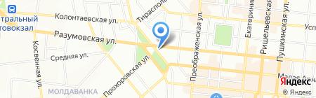 Вагон на карте Одессы