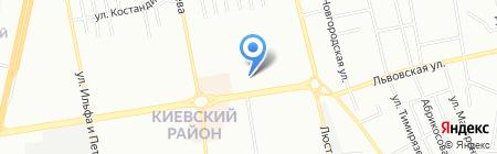 Вечерний квартал на карте Одессы