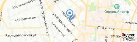 Мир постеров на карте Одессы