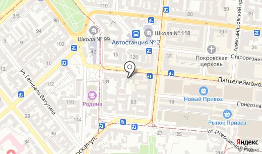 Reebok. Схема проезда в Одессе
