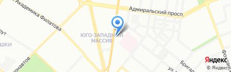 Апрель на карте Одессы