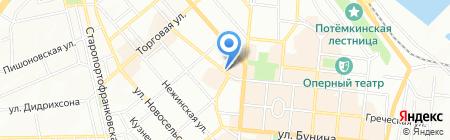 Киоск по продаже печатной продукции на карте Одессы