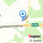 Шиномонтажная мастерская для грузового автотранспорта на карте Санкт-Петербурга