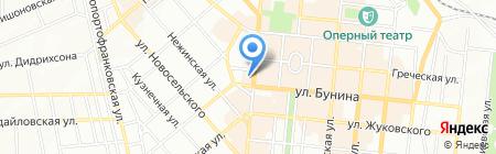 Червонец ПО на карте Одессы