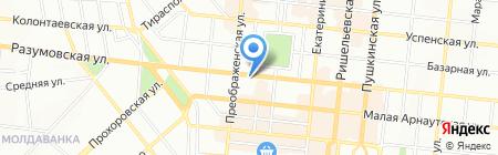 Рыбачка Соня на карте Одессы