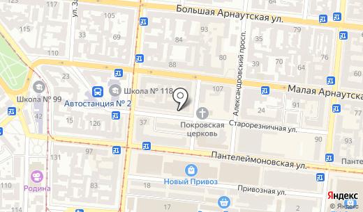 Женская студия танца Кристины Якубовской. Схема проезда в Одессе