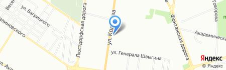Аист на карте Одессы