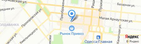 Черноморец на карте Одессы