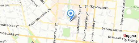 Білий квадрат на карте Одессы