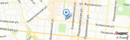 Одесская общеобразовательная школа №68 I-III ступеней на карте Одессы