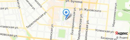 Фидель СК на карте Одессы