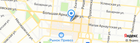Селезнев Тур на карте Одессы