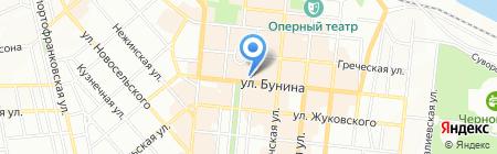 Здравица на карте Одессы