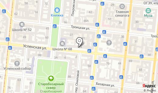 Tiora. Схема проезда в Одессе