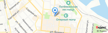 Меридиан на карте Одессы