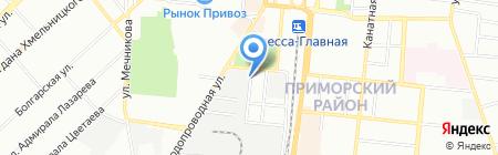 Марморок-Одесса на карте Одессы