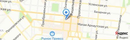 Колибри на карте Одессы