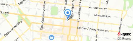 Ібіс на карте Одессы