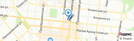 Марком на карте Одессы