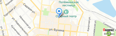 Украинская Ласунка на карте Одессы