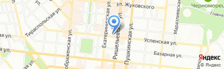 Денисов тур на карте Одессы