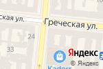 Схема проезда до компании Ambizioni в Одессе