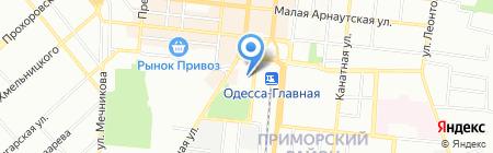 Пальма на карте Одессы
