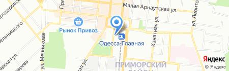 Вареничная на карте Одессы