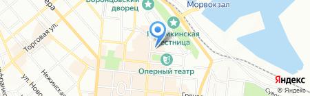 Обжора на карте Одессы